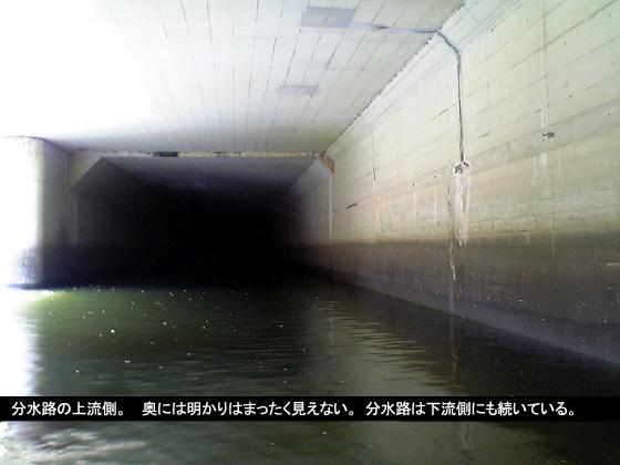 分水路の上流側