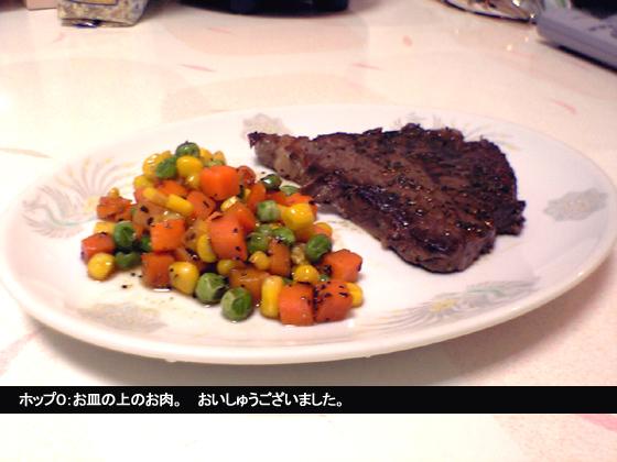 お皿の上のお肉