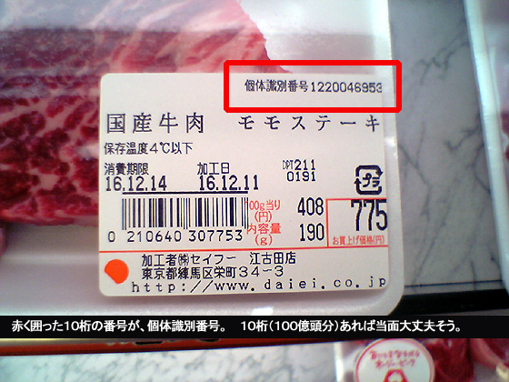 個体識別番号